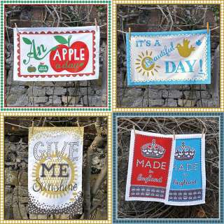any two screen printed tea towels by mary fellows