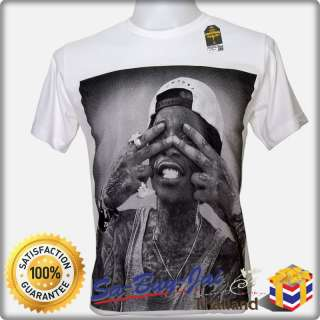 SHIRT WIZ KHALIFA RAPPER BLACK AND YELLOW LIL WAYNE HIP HOP RETRO