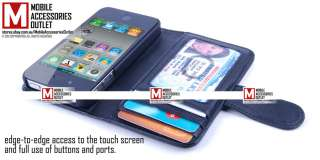 iWalletCase Wallet Credit ID Card Flip Leather Case Cover for Apple