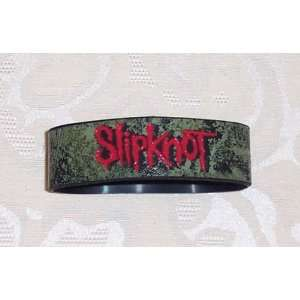 SLIPKNOT Distressed Logo Black Rubber Bracelet WRISTBAND