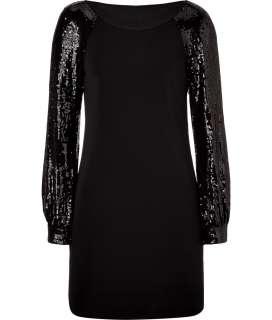 Steffen Schraut Black Apilado Beaded Sleeve Tunic Dress  Damen