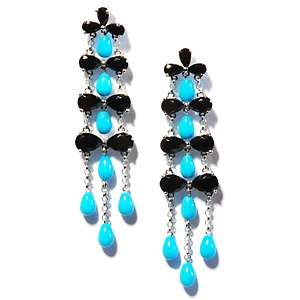 Heritage Gems Sleeping Beauty Turquoise and Black Onyx Sterling Silver