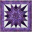 Starburst Quilt Magic No Sew Wall Hanging Kit
