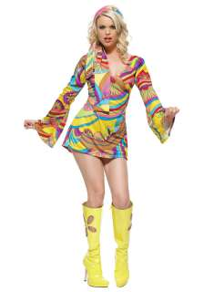 Costumes Adult Disco / Hippie Costumes Sexy Hippie GoGo Girl Costume