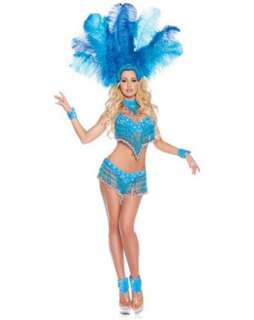 Deluxe Womens Sexy Brazilian Show Girl Costume  Sexy Dancer Halloween