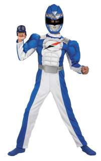 Blue Power Ranger Costume with Muscle Chest   Power Rangers Costumes