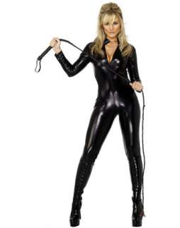 Womens Sexy Black Miss Whiplash Costume   Sexy Cats Halloween Costumes