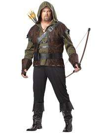 Hood Plus Size Costume for Adults  Robin Hood 2XL Halloween Costume