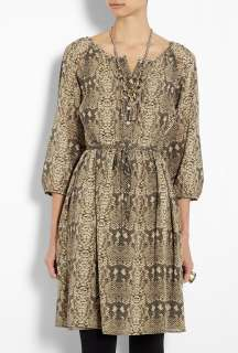 Marc by Marc Jacobs  Cylinder Grey Snake Print Button Down Dress by