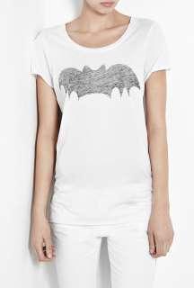 Zoe Karssen  Phantom Staple Print Bat Loose Fit Boyfriend T Shirt by