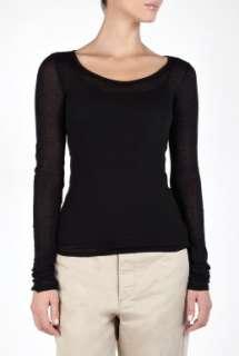 American Vintage  Black Massachussets Long Sleeve T Shirt by American