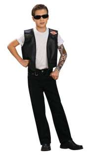 Child Harley Davidson Costume Vest   Motorcycle Costumes   15RU8632