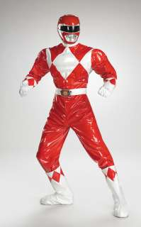 Adult Red Ranger Muscle Costume   Power Rangers Costumes   15DG6823