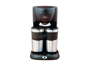 Melitta ME2TMB Black/Steel Inventives Dual Travel Mug Coffee Maker