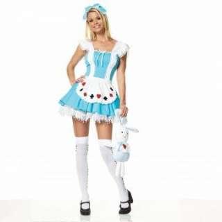 Alice Wonder Place Dress Adult Costume   Costume includes headpiece