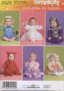 Simplicity Pattern 2524 Baby Costume Angel Devil 18 mos