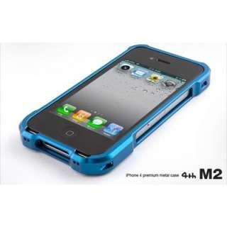 4th Design M2 Aluminum iPhone 4/4S Case   Black/Red