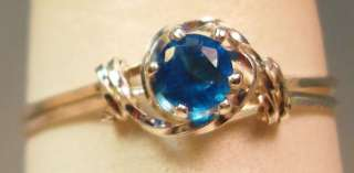 September Birthstone Sapphire 14K GF Ring Wire Wrap#413