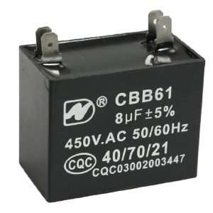 450V AC 50/60Hz Air Conditioner Fan Motor Start Capacitor: Electronics