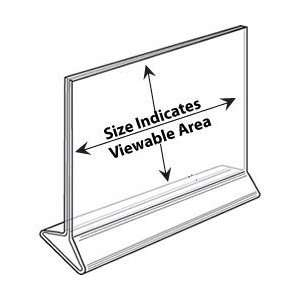 Sign Holder 17x11 Landscape Clear Acrylic Table Top Tent