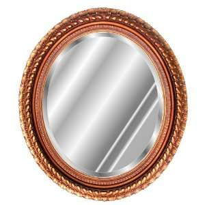 Oval Antique Gold Finish Wall Mirror