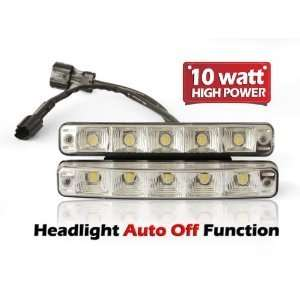 HIGH POWER LED DAYTIME RUNNING LIGHT DRL LAMP AUDI BMW with Auto