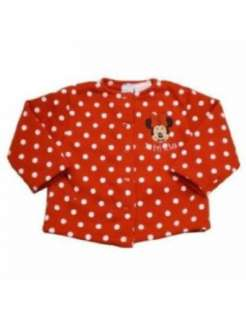 Disney Minnie Mouse Baby Red Button up Sweater   6M