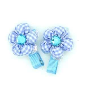 (Blue) Baby/ Toddler /Girl Flower Shaped Mini Hair Clip