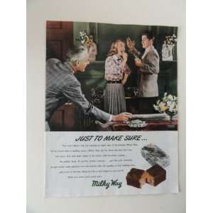 Milky Way candy bars. Vintage 40s full page print ad