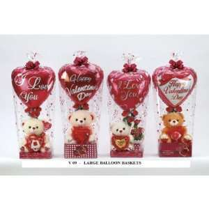 Large Balloon Gift Baskets for Valentines Day Case Pack 4