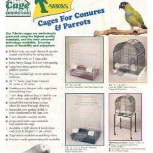 Bird cage Med Blue Ribbon   Blue Ribbon conure/parrot cage