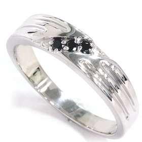 Black Diamond Mens Wedding Band Ring 14k White Gold Jewelry