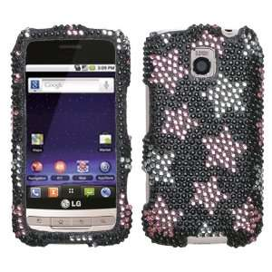 Diamond Crystal Bling Case for LG Optimus M Cell Phones & Accessories