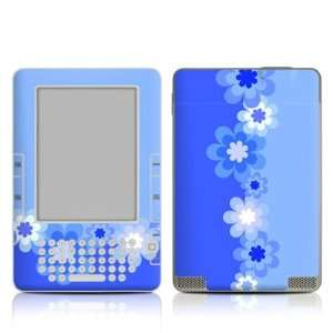 Retro Blue Flowers Design Protective Decal Skin Sticker