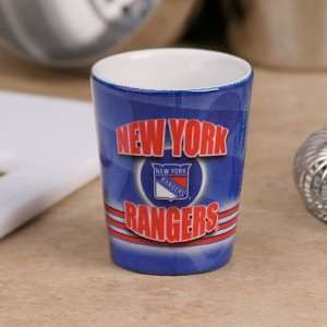 York Rangers Royal Blue Slapshot Ceramic Shot Glass Sports & Outdoors