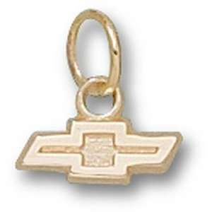 Chevy Bow Tie Logo Charm   Gold Plated Jewelry: Sports & Outdoors