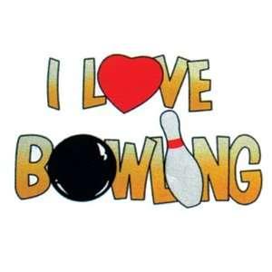 I Love Bowling T Shirt  2 Colors