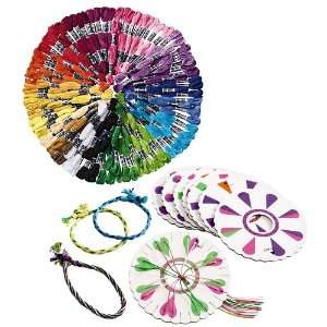 Friendship Bracelet Kit with Innovative Weave Wheels Toys