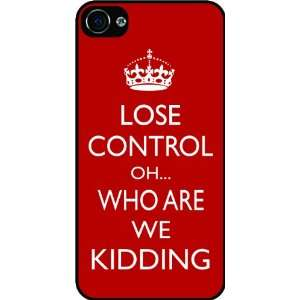 Are We Kidding Red Color Rubber Black iphone Case (with bumper) Cover