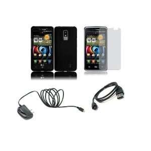 Spectrum (Verizon) Premium Combo Pack   Black Hard Shield Case Cover