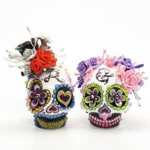 Cake Toppers A00111 Skull Day of Dead Wedding Skull Lover Cake Toppers