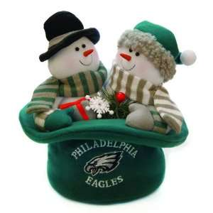 Eagles Snowmen Top Hat Table Christmas Decoration