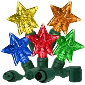 (25) Bulbs   LED Multi Color Star Shape Christmas Lights