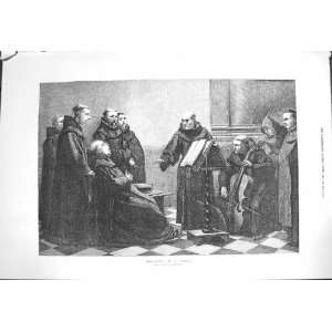 1871 Monks Church Scene Rehearsal Music Singing Robert