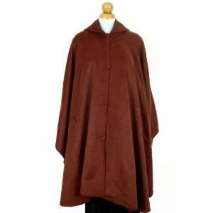 Baby Alpaca Wool Cloak Cape, Hooded, Rich Copper Color