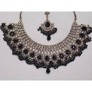 Teal Costume Fashion Jewelry Kundan Design Traditional