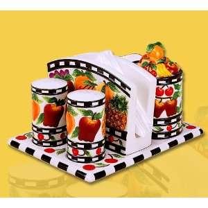 5PC tableware set, Napkin holder,sugar & creamer set Kitchen & Dining
