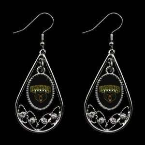 Bears Ladies Tear Drop Crystal Dangle Earrings
