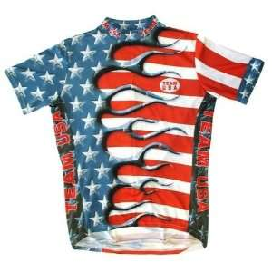 Primal Wear Mens Team USA Original Short Sleeve Cycling Jersey