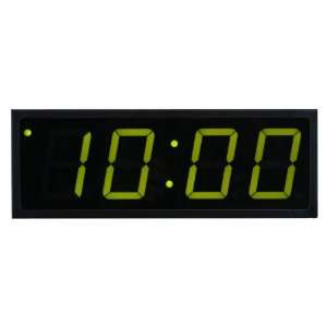 Time Machines Precision Digital POE Clock 4 x 4 Green Digits, Black